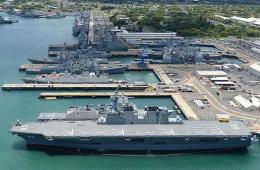 珍珠港塞满各国环太军演战舰