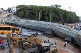 巴西世界杯举办城市高架桥倒塌
