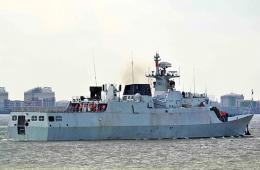 我军反潜版056轻护出海测试