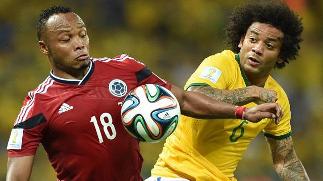 巴西2-1哥伦比亚晋级世界杯四强
