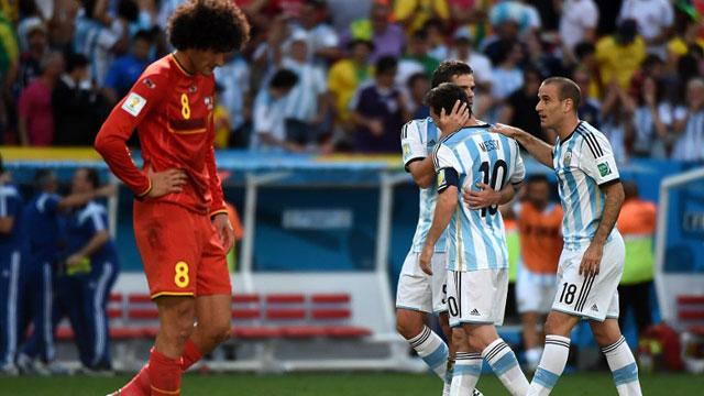 伊瓜因进球 阿根廷1-0比利时进四强