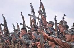 重庆民兵发一水56式冲锋枪