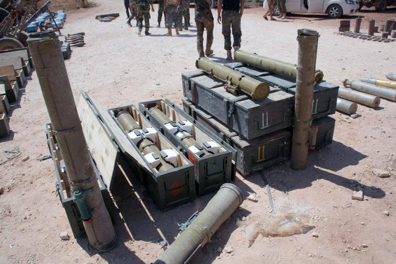 缴获 政府军 武器/叙利亚政府军缴获一批叛军武器(1/5)