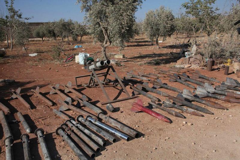 武器 缴获 政府军 叙利亚/叙利亚政府军缴获一批叛军武器(3/5)...