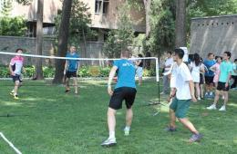 丹麦羽毛球灵感队与中国羽毛球爱好者举行友好赛