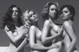 四位前美国小姐为善待组织拍摄唯美反皮草广告