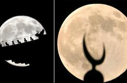 超级圆月悬夜空 世界多地赏美景