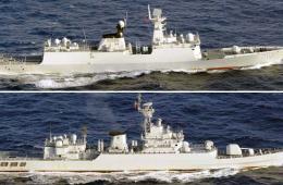 中国海军穿越岛链日方舰机跟踪