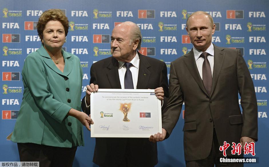 普京观看世界杯决赛 俄罗斯 接棒 2018世界杯