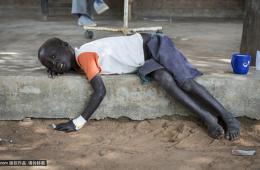 南苏丹儿童遭受霍乱疫情 初级卫生所无以承担