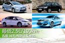 百公里油耗2.5L 五款30万内混动车推荐