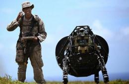 环太军演美军动用负重机器狗