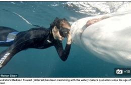 澳少女终日与鲨鱼为伴呼吁民众正确认识鲨鱼