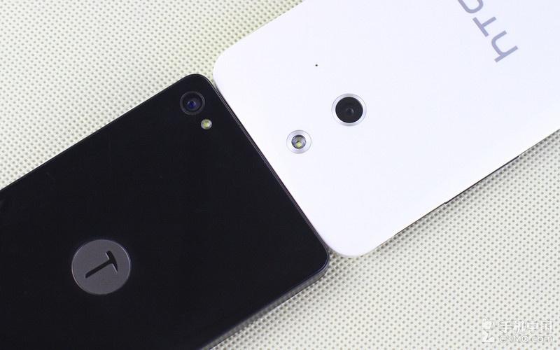 锤子手机T1和HTC One时尚版都放置了一枚后置摄像头,并带有一图片