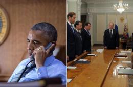 MH17被击落后的奥巴马和普京
