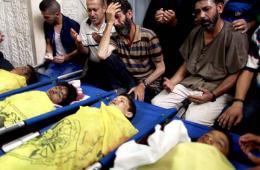 四名巴勒斯坦儿童被以色列海军炮弹袭击死亡