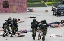 中缅边境德宏举行反恐演练