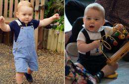 英王室公布乔治王子周岁生日照 萌态可掬