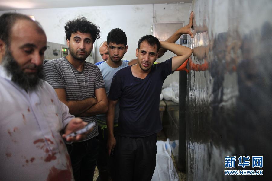 以军猛烈攻击下加沙死伤的儿童