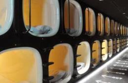 日本成田机场现胶囊旅馆