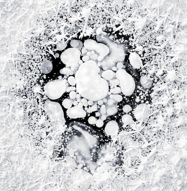自然风光:冰河小景