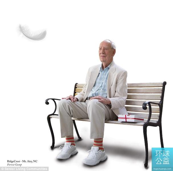 美退休老人山寨经典电影海报为慈善机构筹款