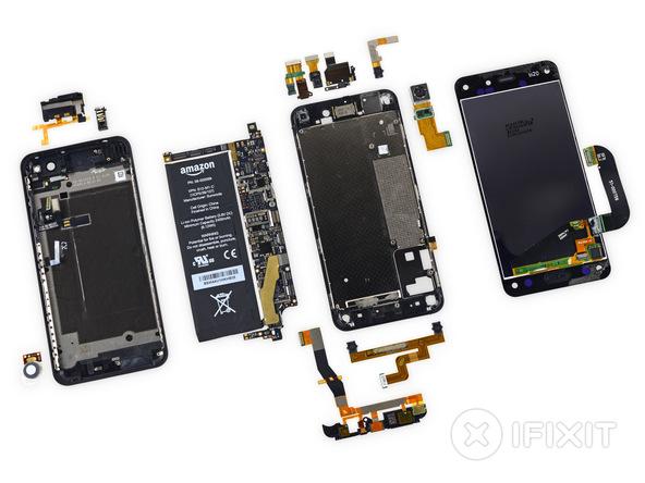 并不容易维修更换:亚马逊Fire Phone拆机