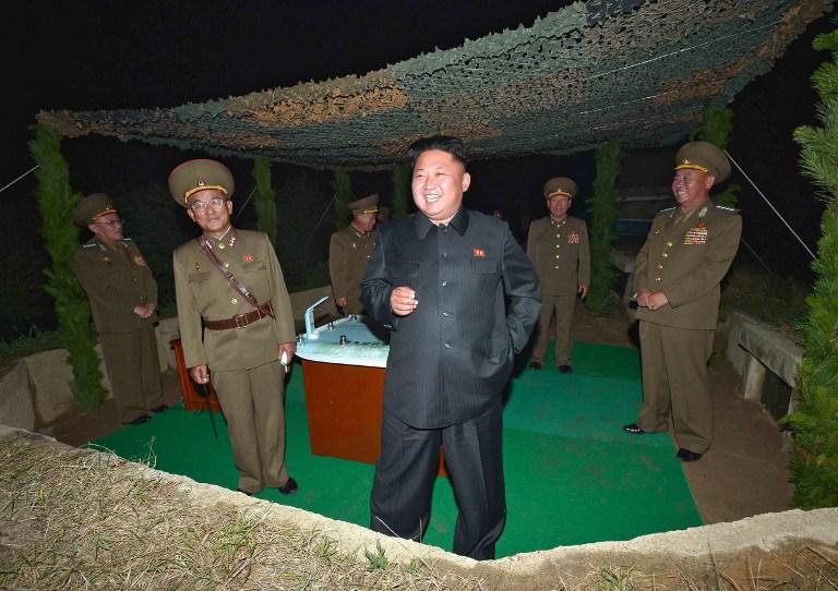 朝鲜针对驻韩美军试射导弹 金正恩现场指导