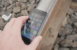 暴力测试 火车碾压iPhone 5S会发生什么