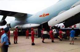 空军伊尔76运8赴云南鲁甸救灾