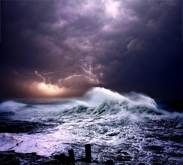 风光摄影:海洋风暴