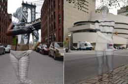 城市中的隐身人:美国艺术家的人体彩绘艺术
