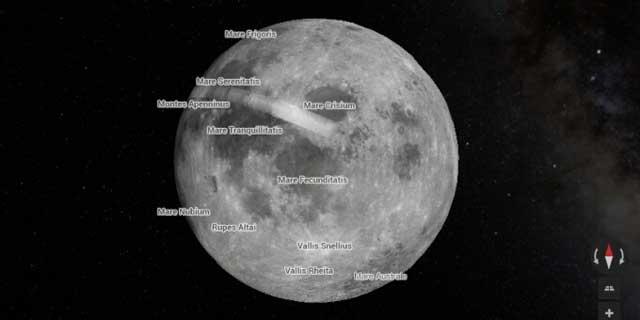 谷歌地图迈入太空:探索火星和月球