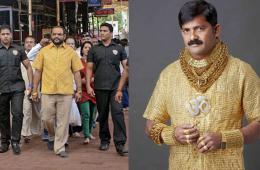 印度商人穿4公斤黄金打造纯金衬衫炫富
