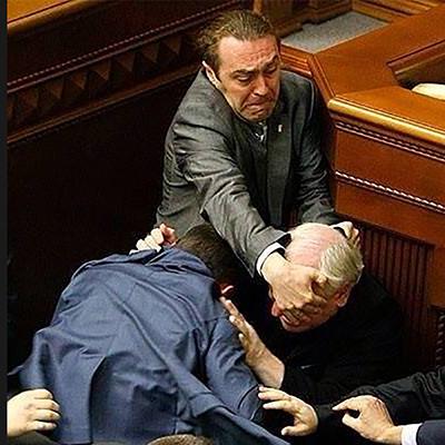 乌克兰议会群殴照片宛若名画