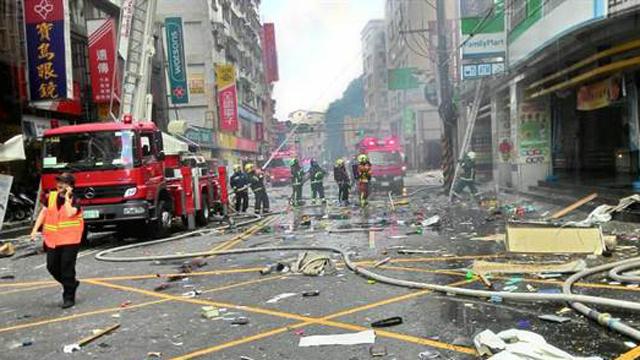 台湾新北市大楼再酿气爆悲剧 浓烟漫天