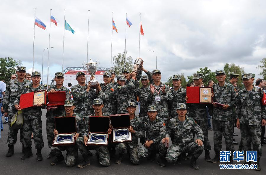 了来自俄罗斯、哈萨克斯?-中国队获俄坦克大赛团体第三名图片