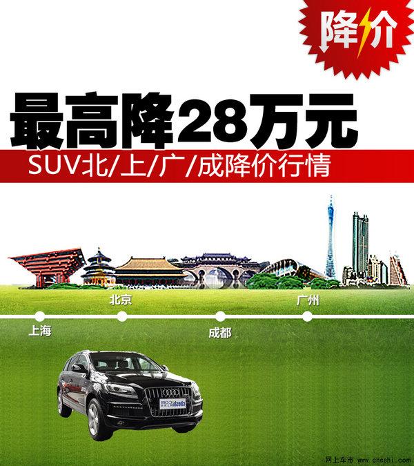 最高优惠28万 SUV北/上/广/成降价汇总