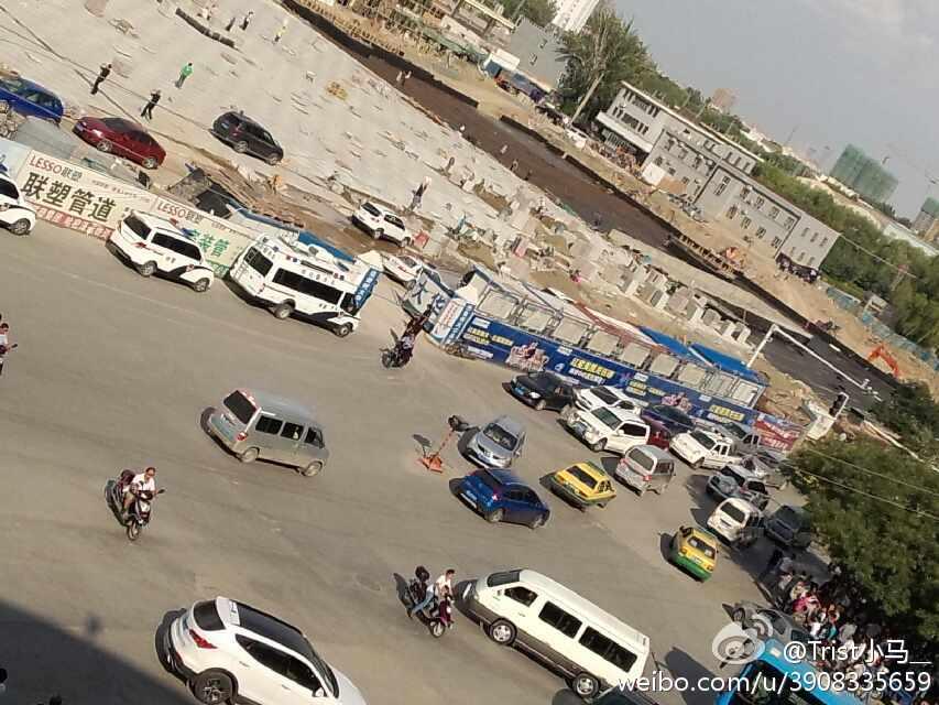 哈密/新疆哈密在建火车站发生大火(9/14)