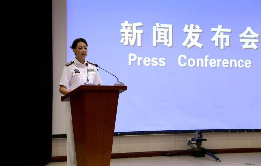 中国海军首位女发言人邢广梅亮相