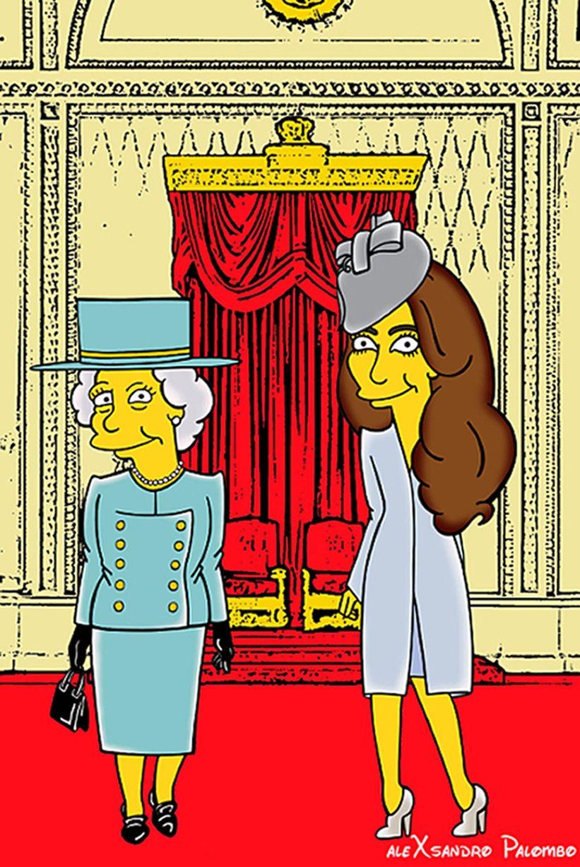 意艺术家将英凯特王妃卡通化滑稽搞笑