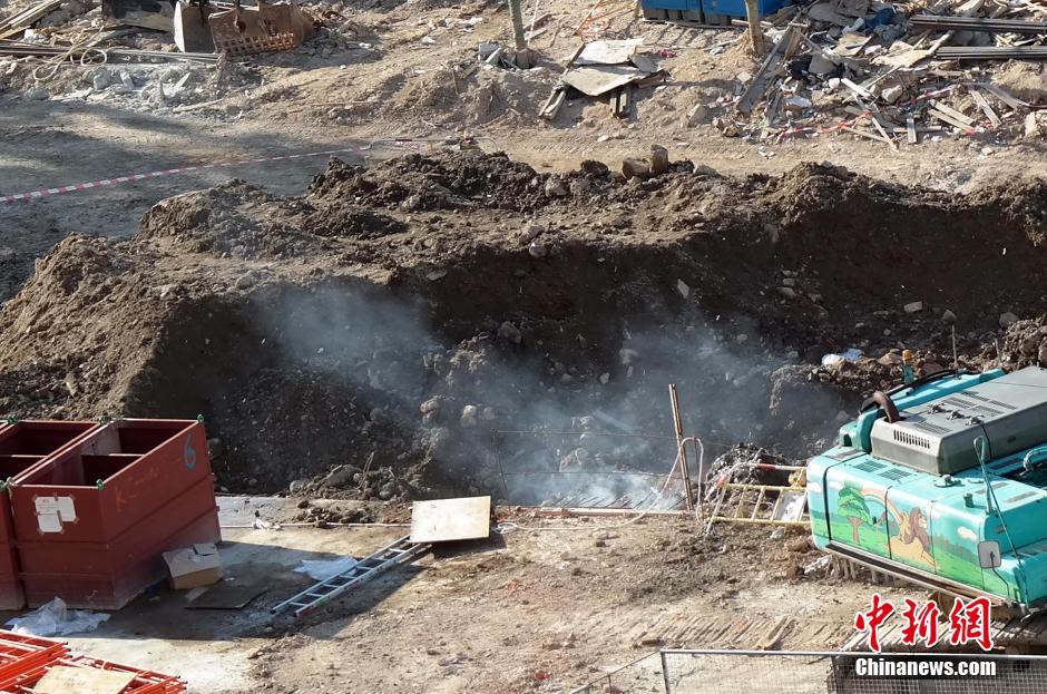香港发现二战日军遗留炸弹 重36公斤分两次引爆