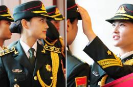 中国军方公开女仪仗兵写真照