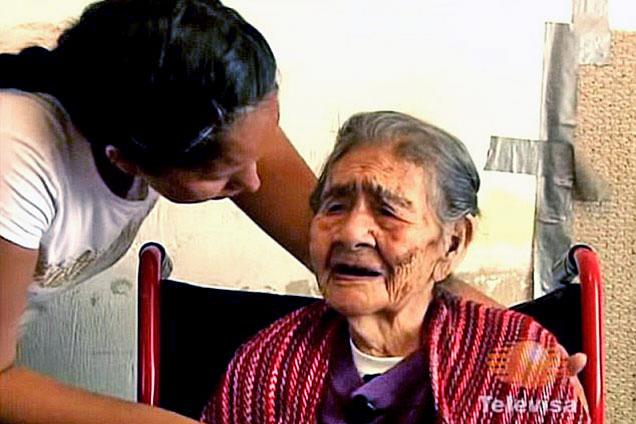 墨127岁老太破长寿纪录好吃好睡不结婚