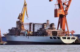 新下水的903补给舰建造进展