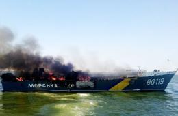 民间武装用大炮打残乌军巡逻艇