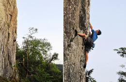 英男子19小时独自攀爬100处悬崖
