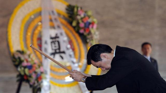 马英九遥祭中国远征军英灵 创台当局领导人首例