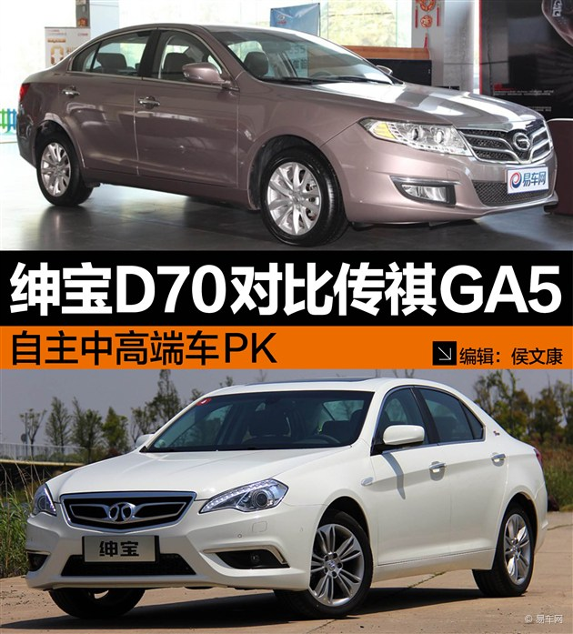 绅宝D70对比传祺GA5 自主中高端车PK