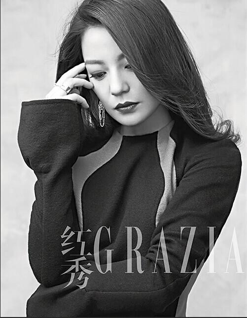 赵薇登时尚周刊封面 文艺优雅尽显魅力